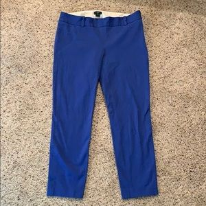 J. Crew Royal Blue City Fit Ankle Pants - Size 6